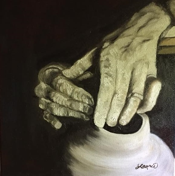 Potters Hands in Oil