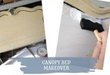 Painted Canopy Bed Makeover