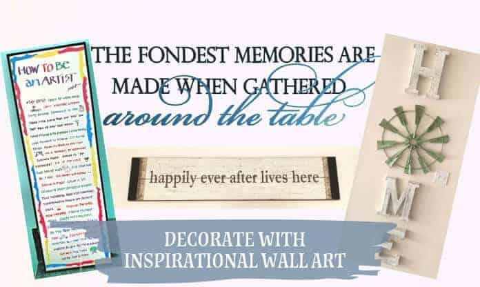 Decorating with Inspirational Wall Art to Spark Conversation!