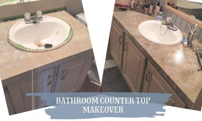 DIY Bathroom Counter Top Makeover