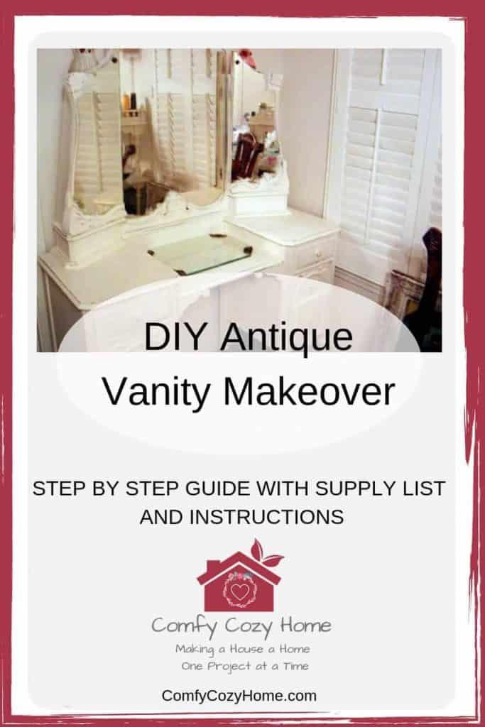 DIY Antique Vanity Makeover