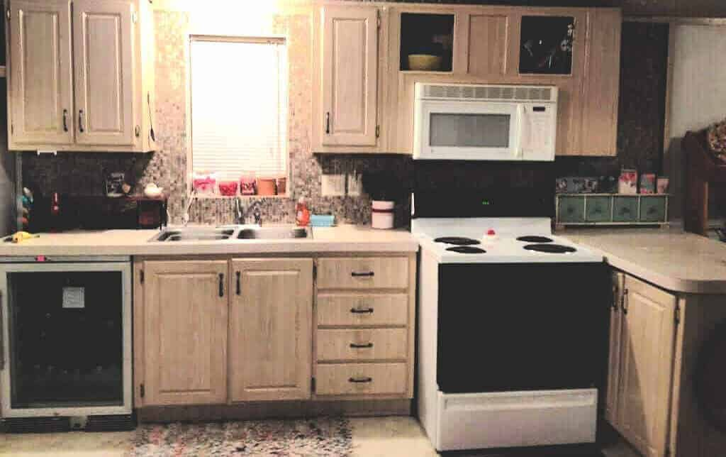Mobile Home DIY Kitchen Makeover Before