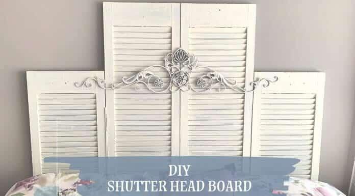 DIY Shutter Headboard