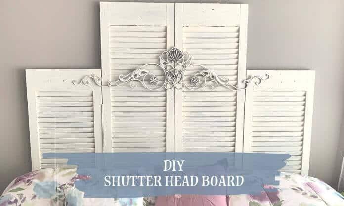 DIY Shutter Headboard from Salvaged Shutters