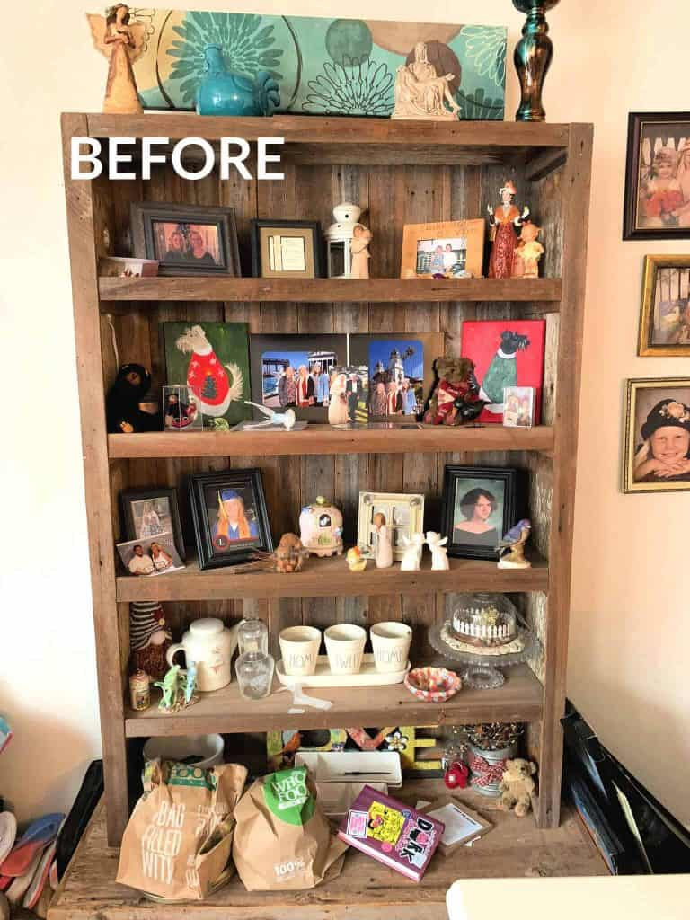 Shelves before decorating