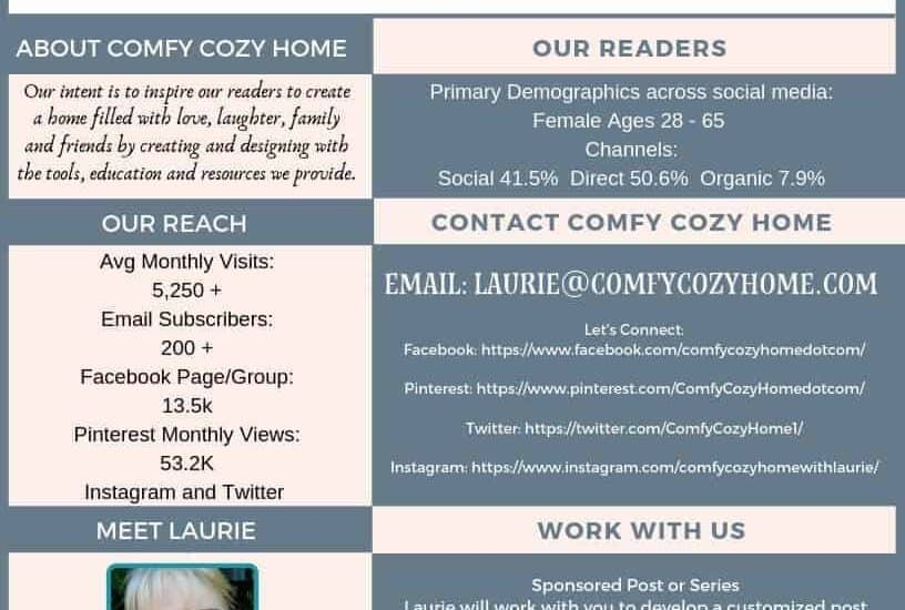 Work with us at Comfy Cozy Home