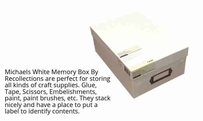 White Memory Box By Recollections
