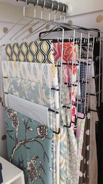 Slack Hangers for storing fabric