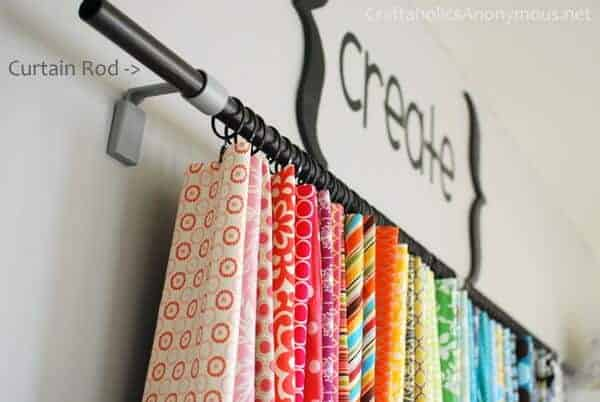 Curtain Rod for Storing Fabric