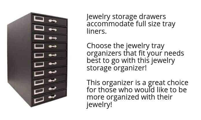 Jewelry Storage Drawers for Crafting