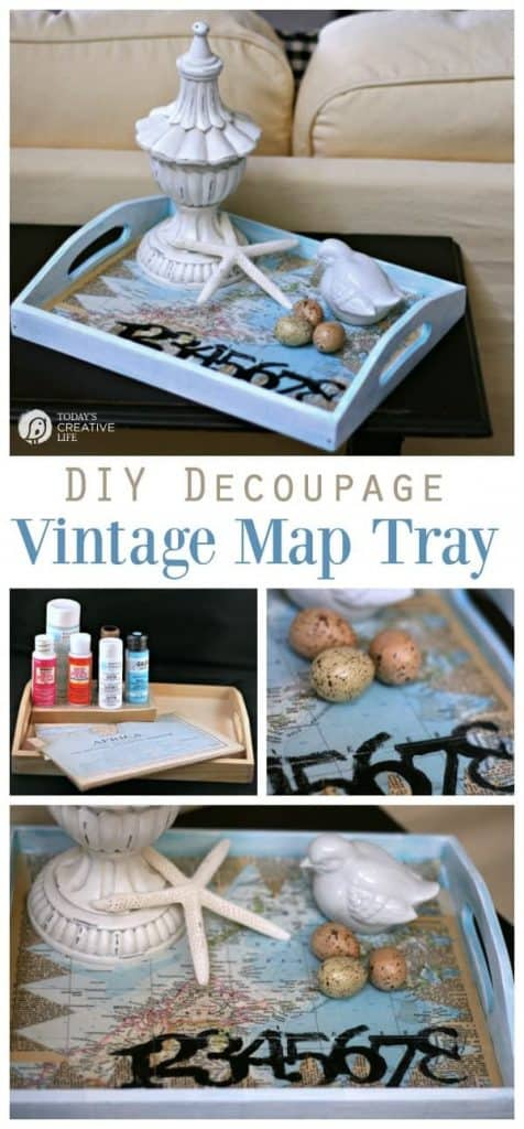 This image has an empty alt attribute; its file name is diy-decoupage-vintage-map-tray-min-476x1024.jpg
