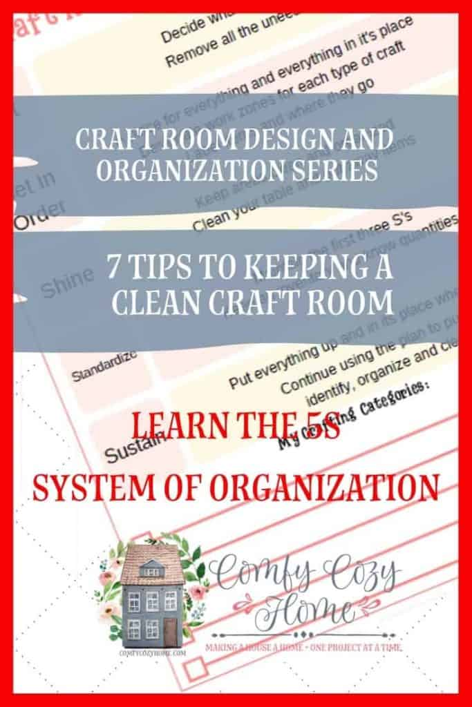 Keeping your Craft Room Clean