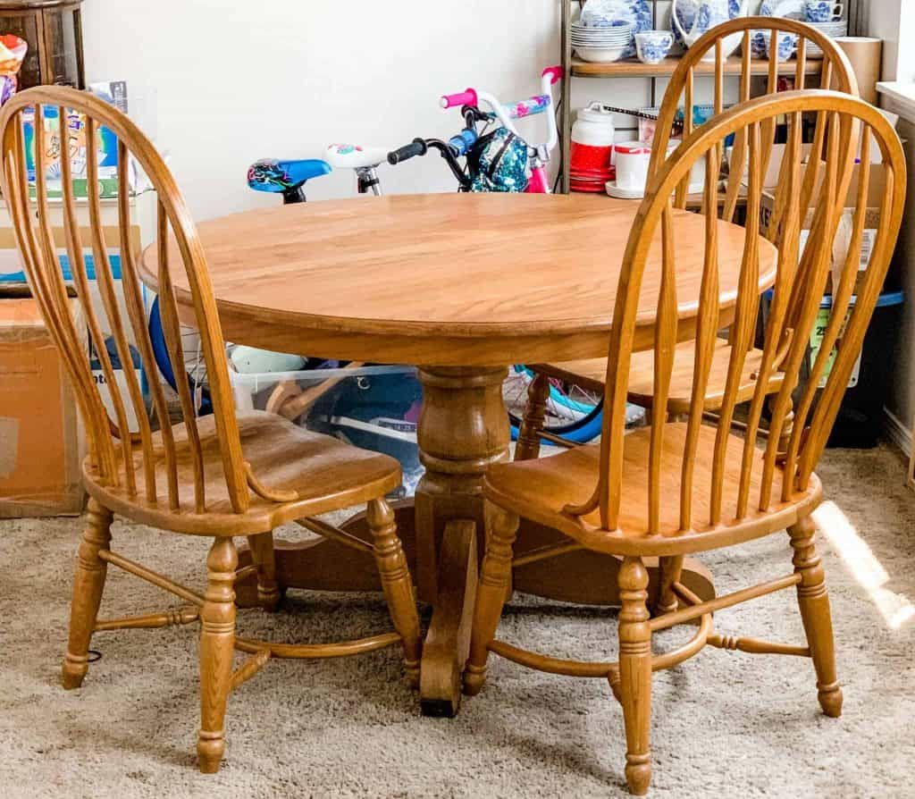 Refinished Oak Table and Chairs