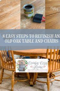 Refinishing an Oak Table