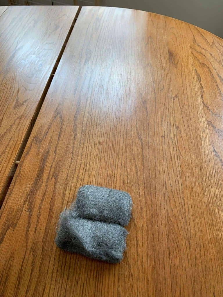 Steel Wool for Table