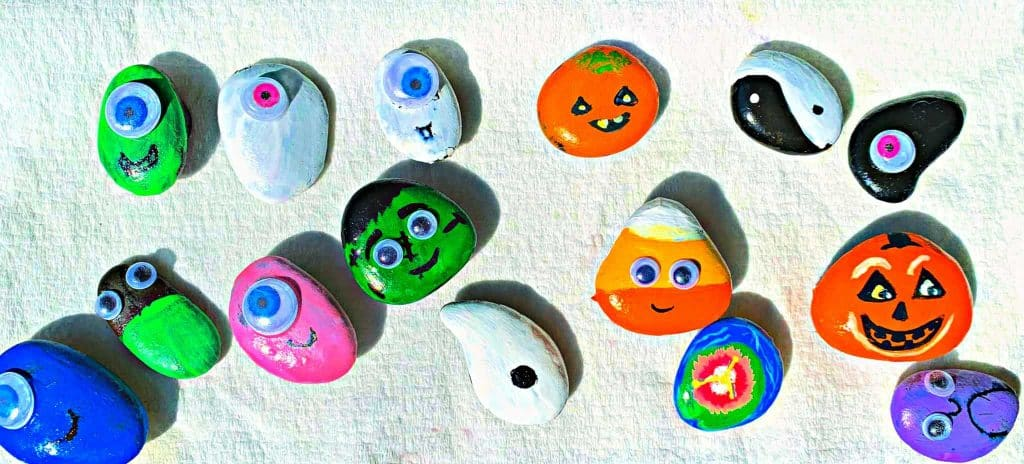 Fall Rock Magnets Craft