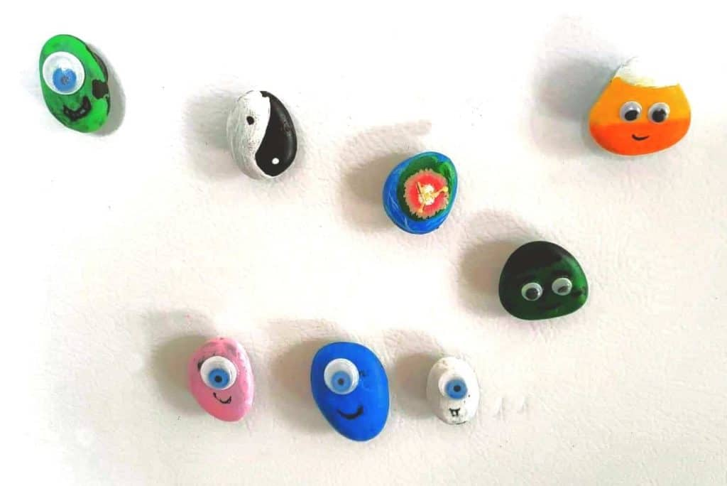 Monster Rock Fridge Magnets Craft
