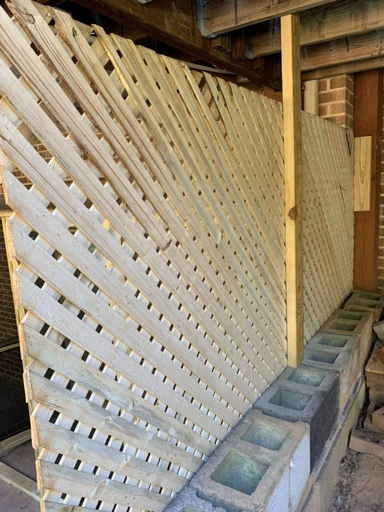 Lattice Wall for Catio
