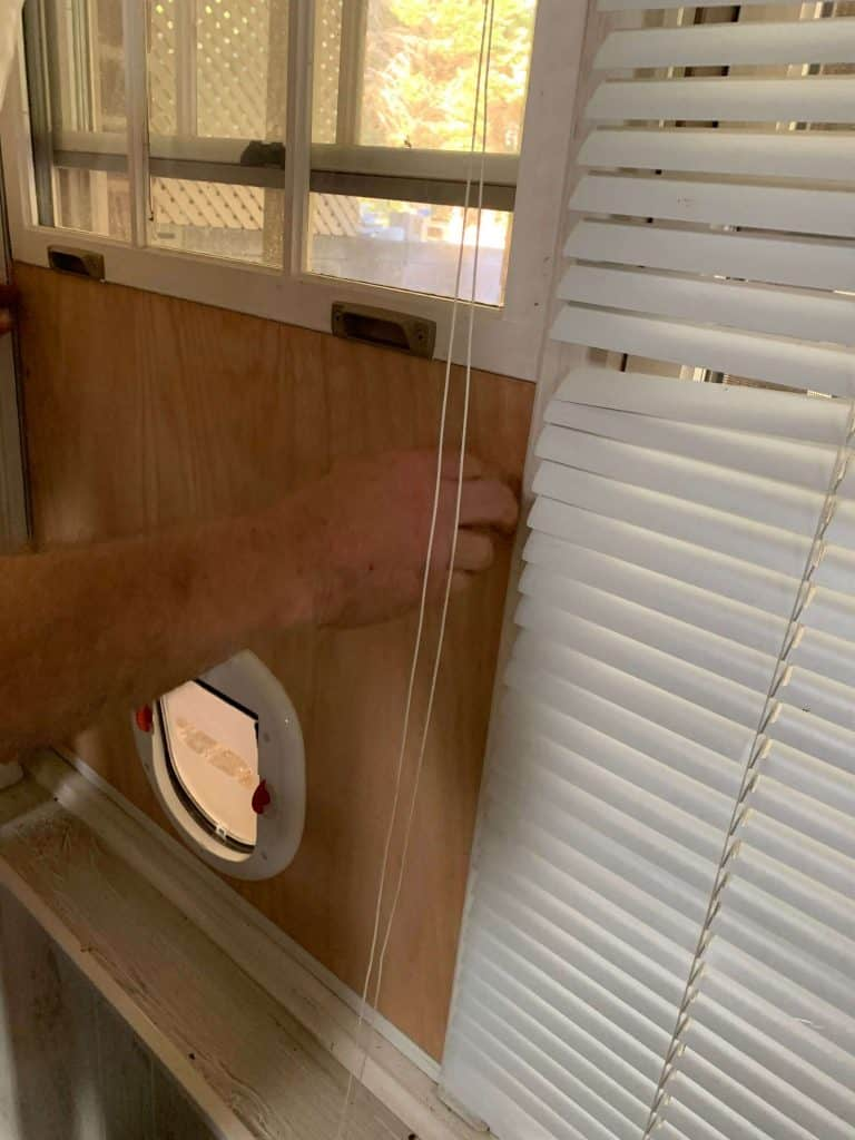 Installing Cat Door in Window