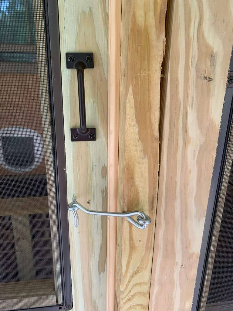 Adding Hardware to Catio Door