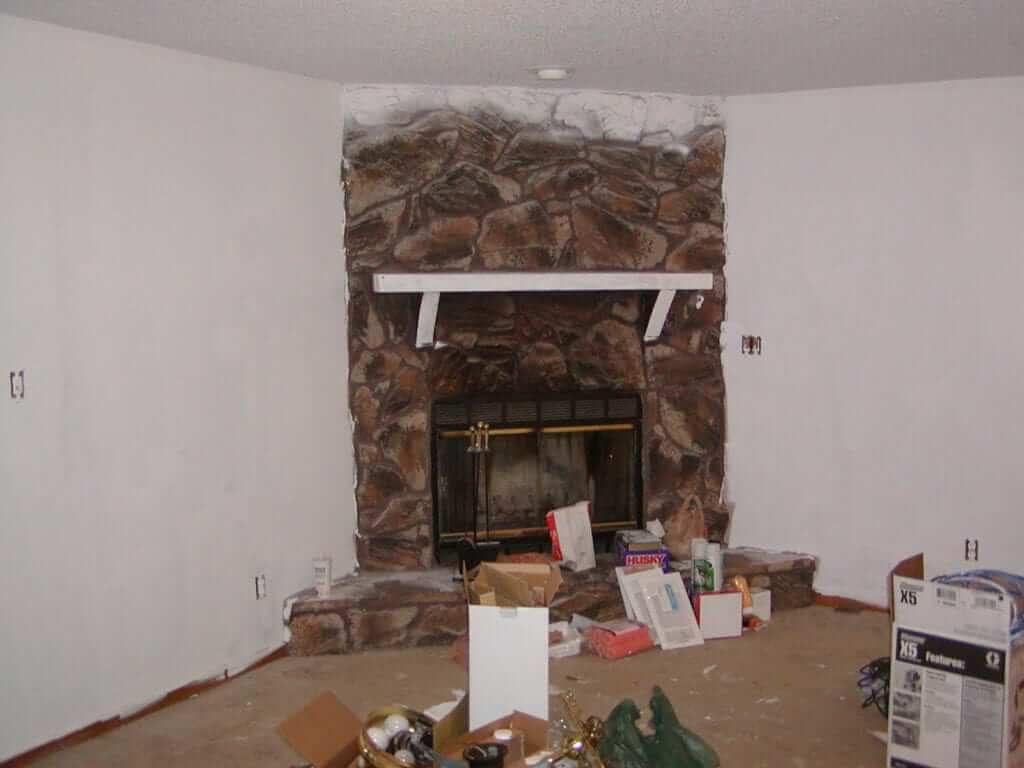 DIY Rental Flip Fireplace