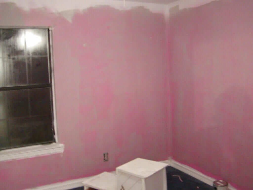 Pink Walls in the Rental