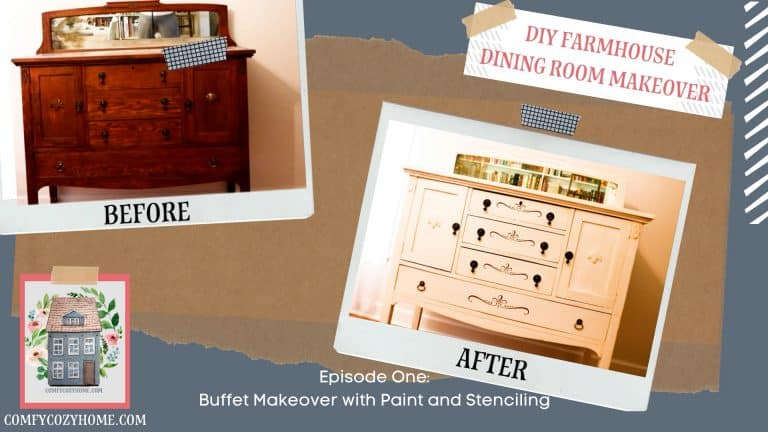 Easy Painted Buffet Makeover Using Stencils
