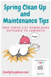 Spring Cleaning and Home Maintenance Check List